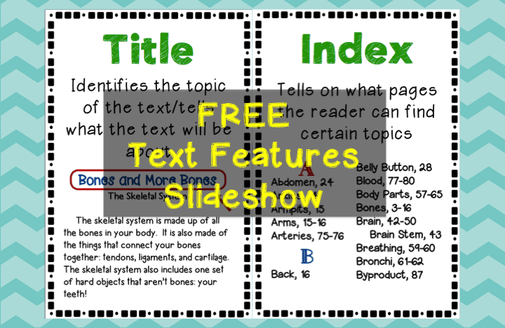 Text Features Engaging Activities Teaching Made Practical. Free Text Feature Slideshow Introduces 18 Different Features. Worksheet. Elements Of Nonfiction Worksheet At Clickcart.co
