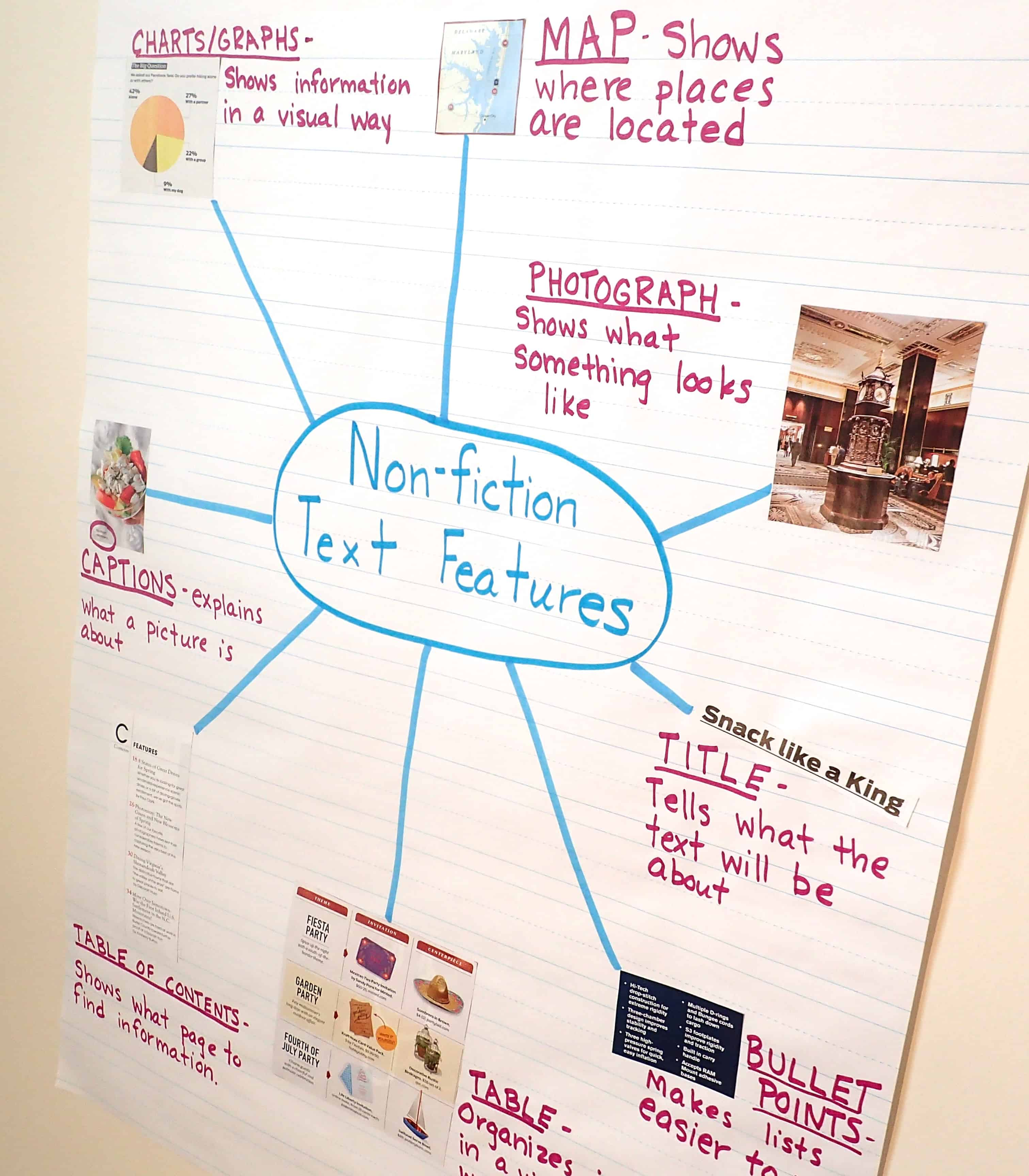 Text feature anchor charts teaching made practical this anchor chart would be very helpful for students that are unfamiliar with the different types of text features and need a visual reference ccuart Choice Image