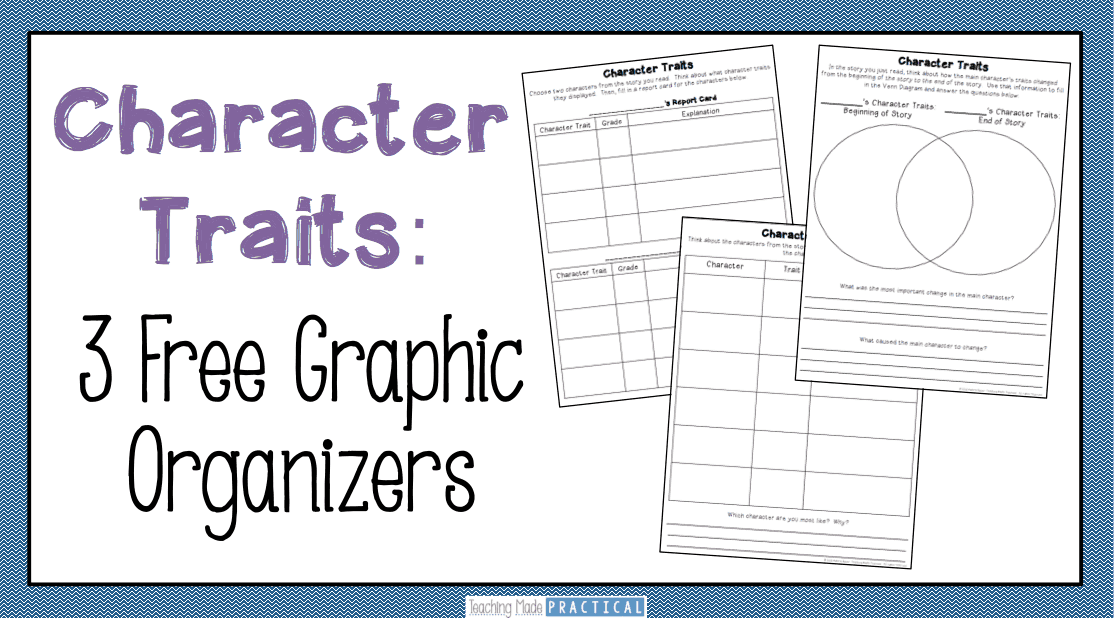Teaching Character Traits Low Prep Activities Teaching Made – Creating a Character Worksheet