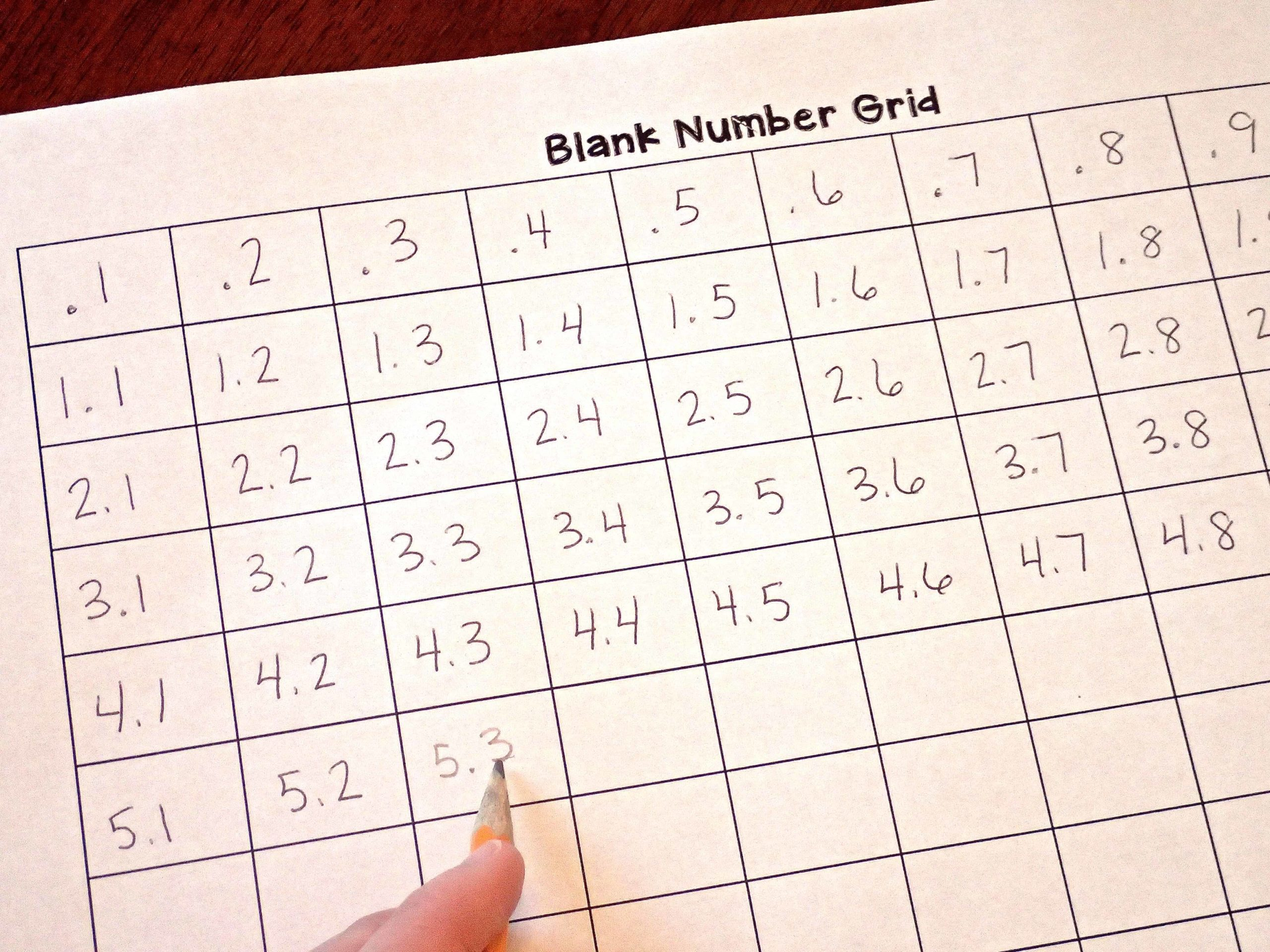 10 ways to use number grids in upper elementary teaching made assess students understanding of decimals by having them count by tenths on a number grid nvjuhfo Choice Image
