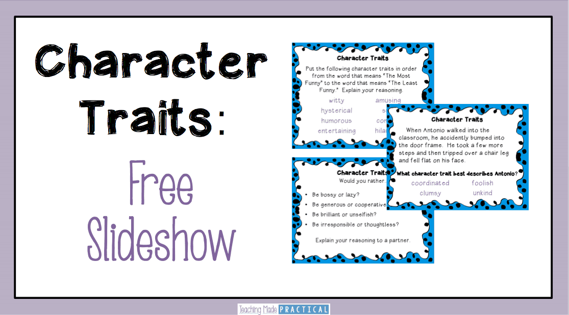 Teaching Character Traits Low Prep Activities Teaching Made – Identifying Character Traits Worksheet