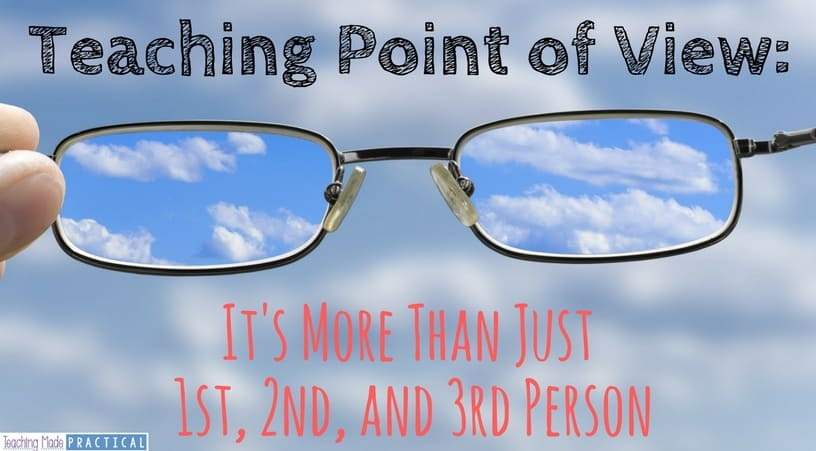 Point of View is more than just 1st, 2nd, and 3rd person.  Find ideas to help you address the other aspects of point of view for your 3rd grade, 4th grade, or 5th grade students.