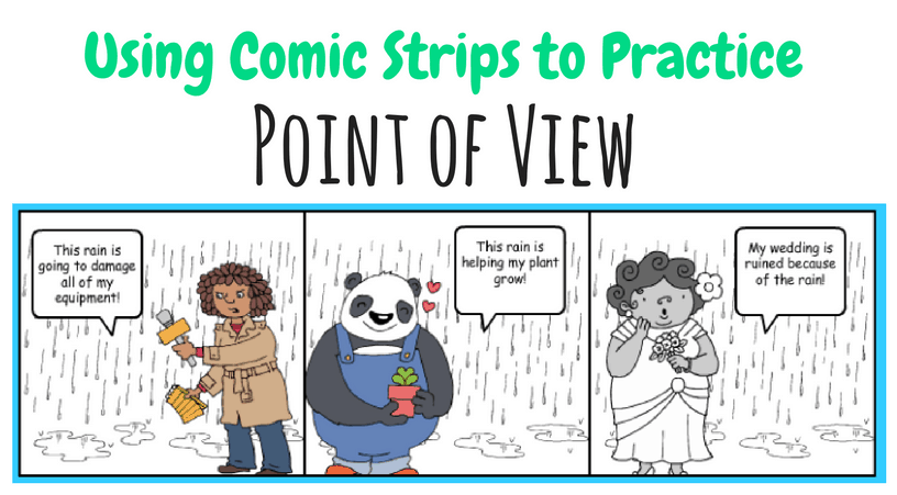 Using comic strips to practice point of view with your 3rd grade, 4th grade, or 5th grade class.