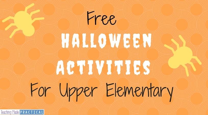 Free Halloween Activities for Upper Elementary