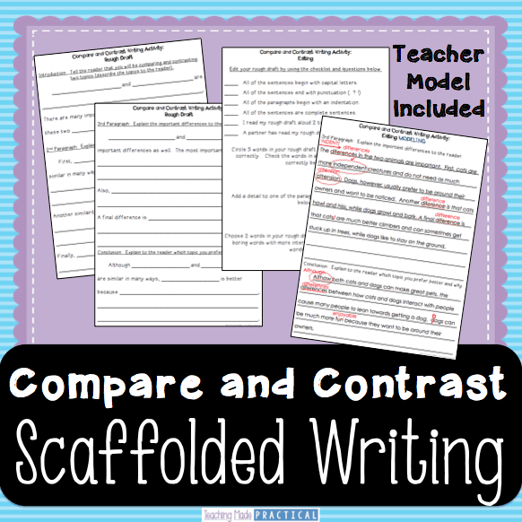 how to write contrast and compare essays In academic writing, comparison and contrast is particularly valuable because it enables you to see familiar things in new ways common sense says that two things.