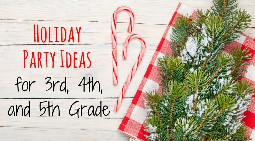 4th grade christmas party ideas