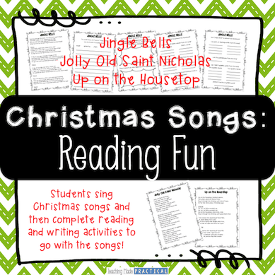 Use Christmas Songs to Practice Reading Skills and Build Fluency in 3rd grade and 4th grade.