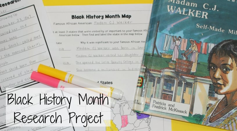 a black history month research project teaching made practical black history month research project scaffolded to help 3rd grade and 4th grade students write