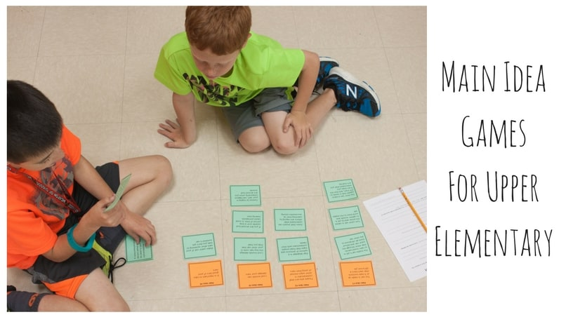 Main Idea Games and Center Ideas for Upper Elementary Students