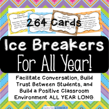 Ice Breakers for All Year
