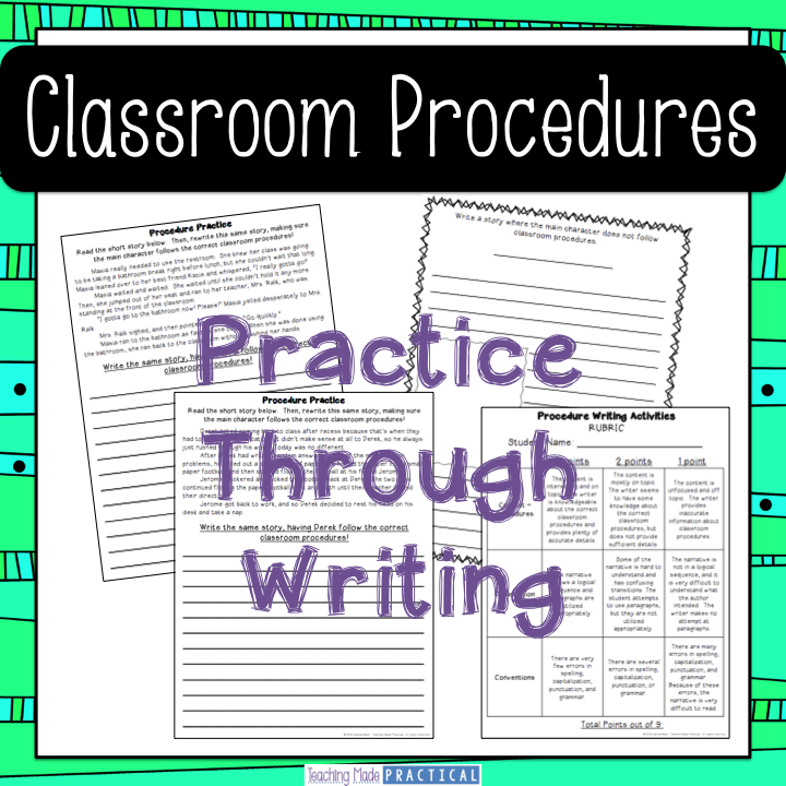 Rewrite Classroom Procedures