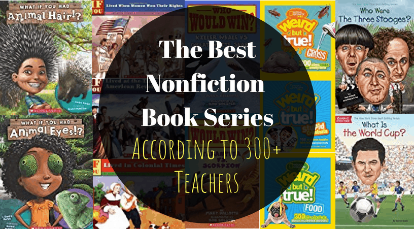 The best nonfiction chapter book series for 3rd grade, 4th grade, and 5th grade students